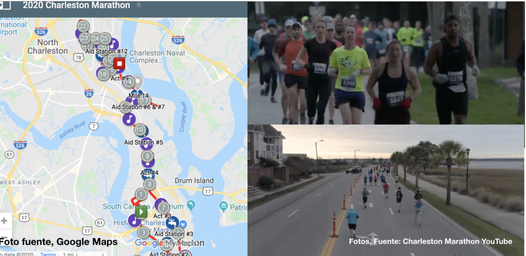 2020 O2 Fitness Charleston Marathon el sábado 11 de enero, se esperan muchas calles cerradas